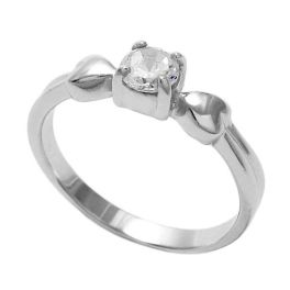 Sterling Silver Baby Cubic Zirconia Heart Ring