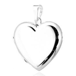 Sterling Silver Heart Locket Pendant - 25mm