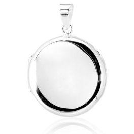 Sterling Silver Round Locket Pendant - 22mm