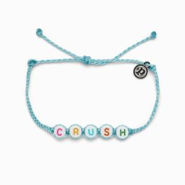 Puravida Crystal Blue Crush Word Bracelet