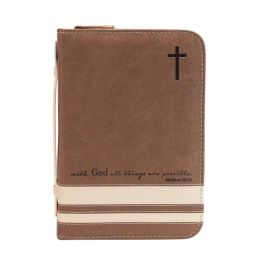 All Things Brown Bible Cover - Medium