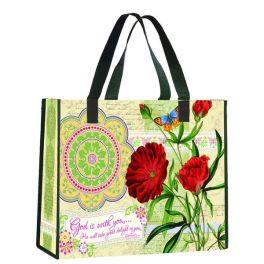 Reusable Nylon Shopping Tote Bag - God Is With you