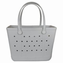 Simply Southern Large Simply Tote - Ice Gray
