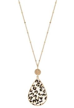 So In Style Necklace - White Leopard