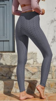 And They Went Viral Textured Leggings - Charcoal