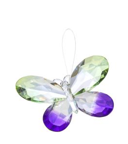 Acrylic Butterfly Ornament - Green/Purple