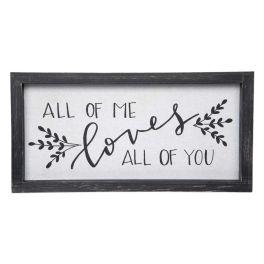 All Of Me Framed Linen Sign