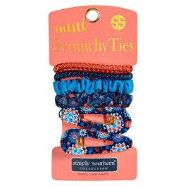 Simply Southern Mini Scrunchie Ties - Beach Garden