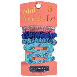 Simply Southern Mini Scrunchie Ties - Turtle