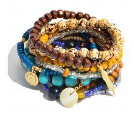 Boldly Boho Bracelet - Brown/Turquoise