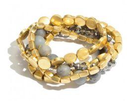 Seeking Gold Bracelet - Grey