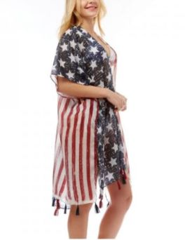 All For America Kimono - Red/White/Blue