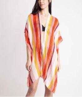 Stripes For Me Kimono - Pink