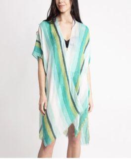 Stripes For Me Kimono - Green
