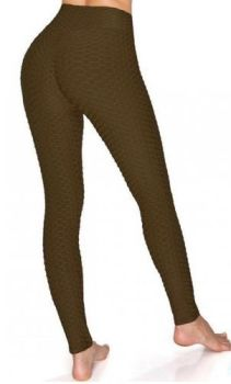 And They Went Viral Textured Leggings - Brown