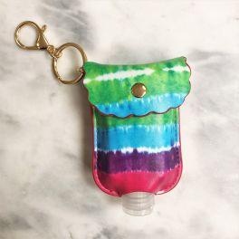 Hand Sanitizer Holder Keychain - Tie Dye