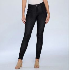 Back To The Basic Plus Jeggings - Black