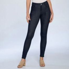 Back To The Basic Plus Jeggings - Navy