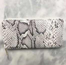 Ladies Zip Around Wallet - Snake Print