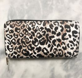 Ladies Zip Around Wallet - Cheetah