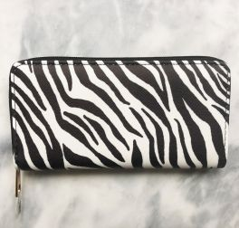Ladies Zip Around Wallet - Zebra