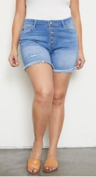 Modern Day Plus Mid-Rise Short - Medium Wash