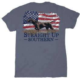 Straight Up Southern Pointer Flag T-Shirt