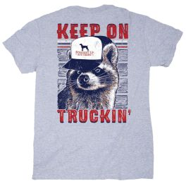Straight Up Southern Trucker Racoon T-Shirt
