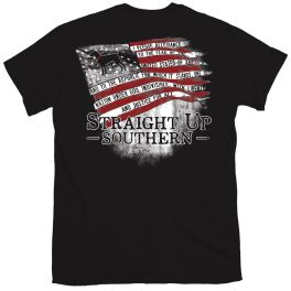 Straight Up Southern Allegiance Flag T-Shirt
