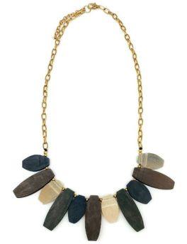 Anju Omala Drop Necklace - Misty Green