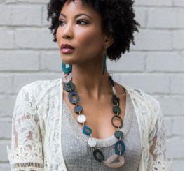 Anju Omala Necklace - Misty Green