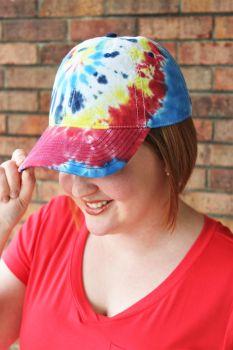 Rainbow Tie-Dye Ball Cap