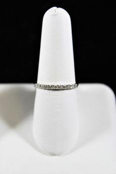 14K White Gold Diamond Band - .25CT