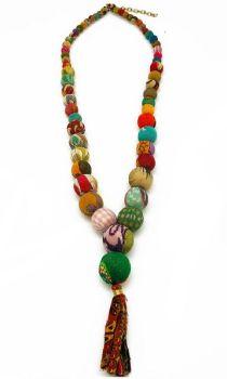 Anju Aasha Beaded Tassel Necklace - Multi