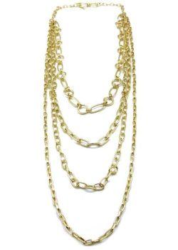 Anju Multi Strand Gold Plated Necklace - Gold