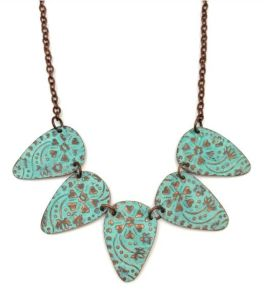 Anju Copper Patina Necklace - Turquoise