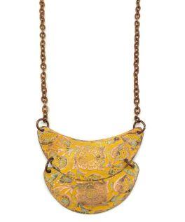 Anju Patina Necklace - Mustard