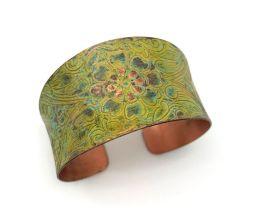 Anju Copper Patina Bracelet - Kiwi