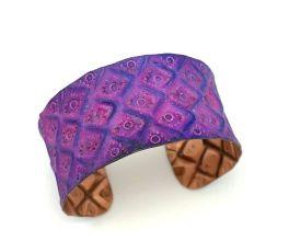 Anju Copper Patina Bracelet - Purple