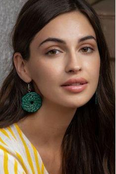 Myra Forever Drop Earrings - Green