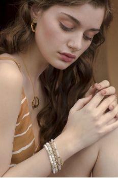 Myra Snow White Bracelet - White