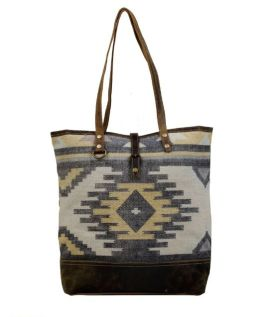 Myra Patchy Tote Bag - Yellow