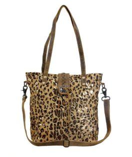 Myra Resonance Leather & Hairon Bag - Brown