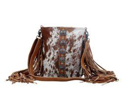 Myra Flouncy Hairon Bag - Brown
