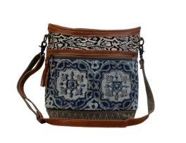 Myra Weblike Shoulder Bag - Blue