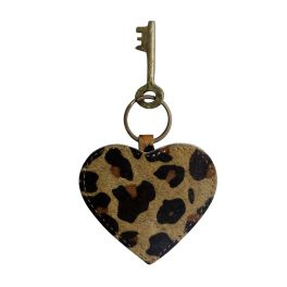 Antique Heart Shaped Keychain