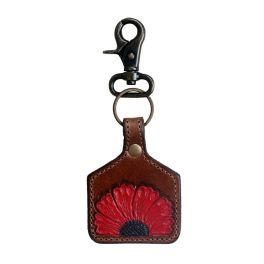 Vermilion Petals Keychain