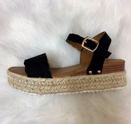 You've Got Love Wedge Sandal - Black