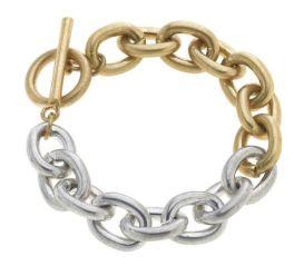Ask Me Later Bracelet - Gold/Silver