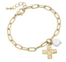 Cross My Heart Bracelet - Gold